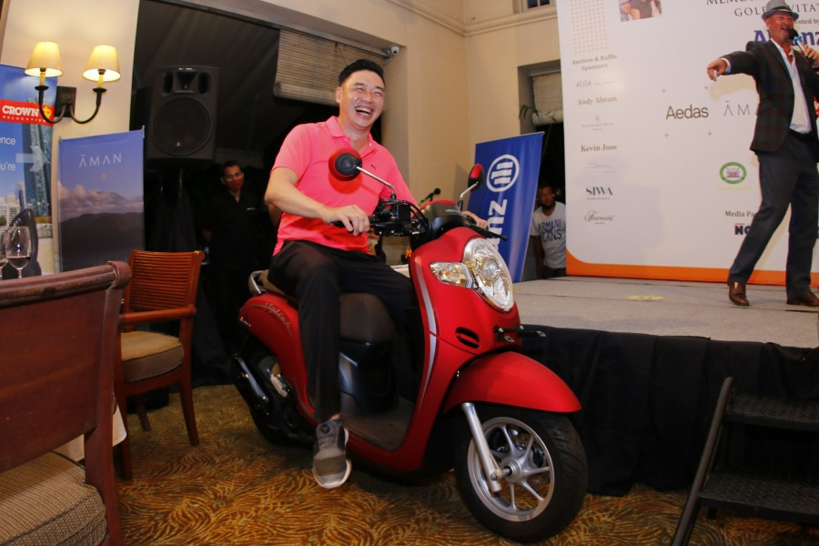 RAFFLE GRAND PRIZE WINNER; A HONDA SCOOPY STYLISH