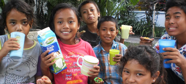 Annual Fresh Milk for Jodie O'Shea Orphanage Bali
